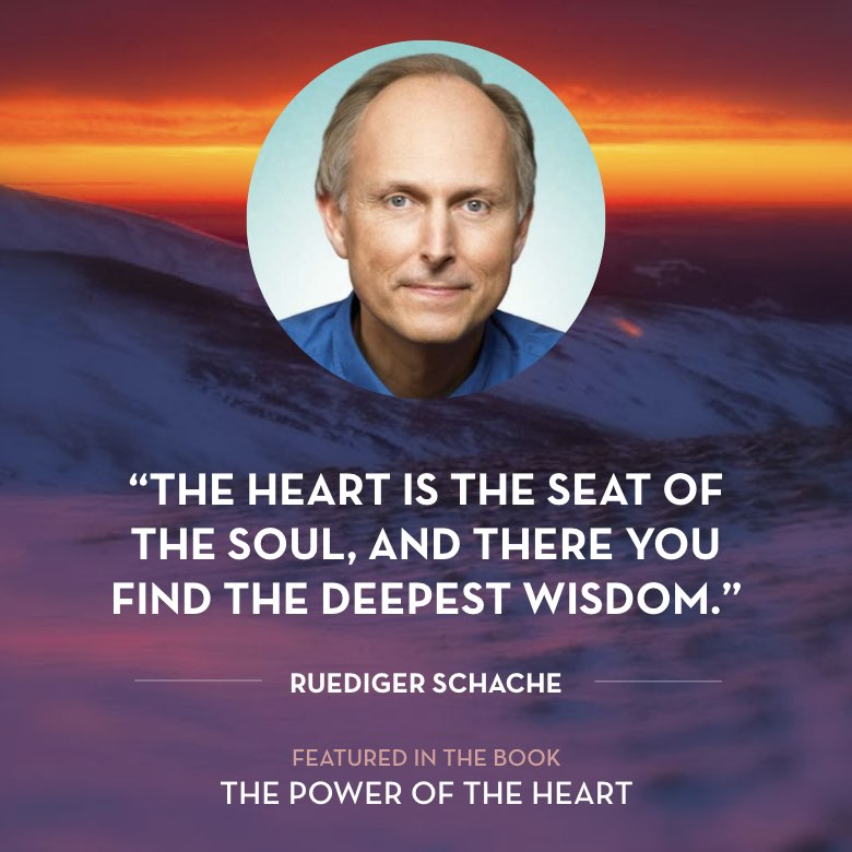 The heart is the seat of the soul, and there you find the deepest wisdom. -  Ruediger Schache
