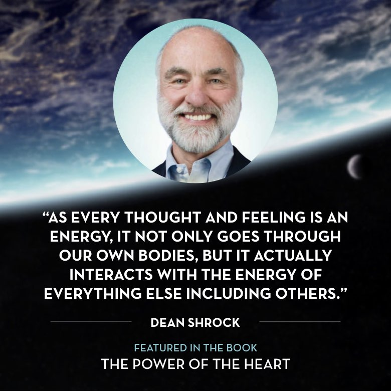 As every thought and feeling is an energy, it not only goes through our own bodies, but it actually interacts with the energy of everything else including others. -  Dean Shrock