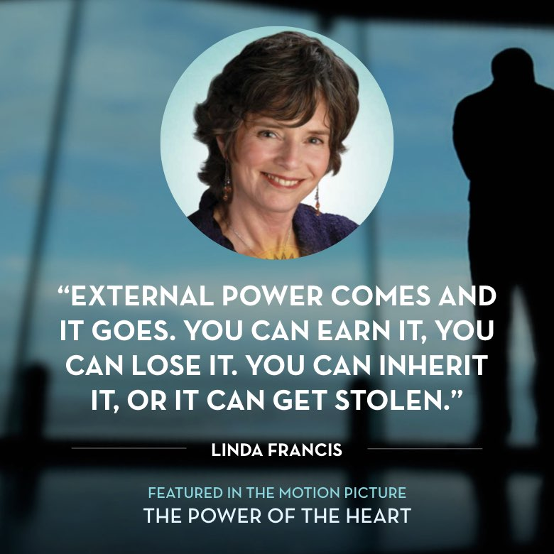 External power comes and it goes. You can earn it, you can lose it. You can inherit it, or it can get stolen. -  Linda Francis