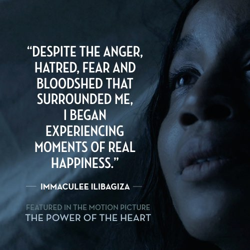 From 'Gratitude Makes You Happy' by Immaculée Ilibagiza. Read the full story at thepoweroftheheart.com